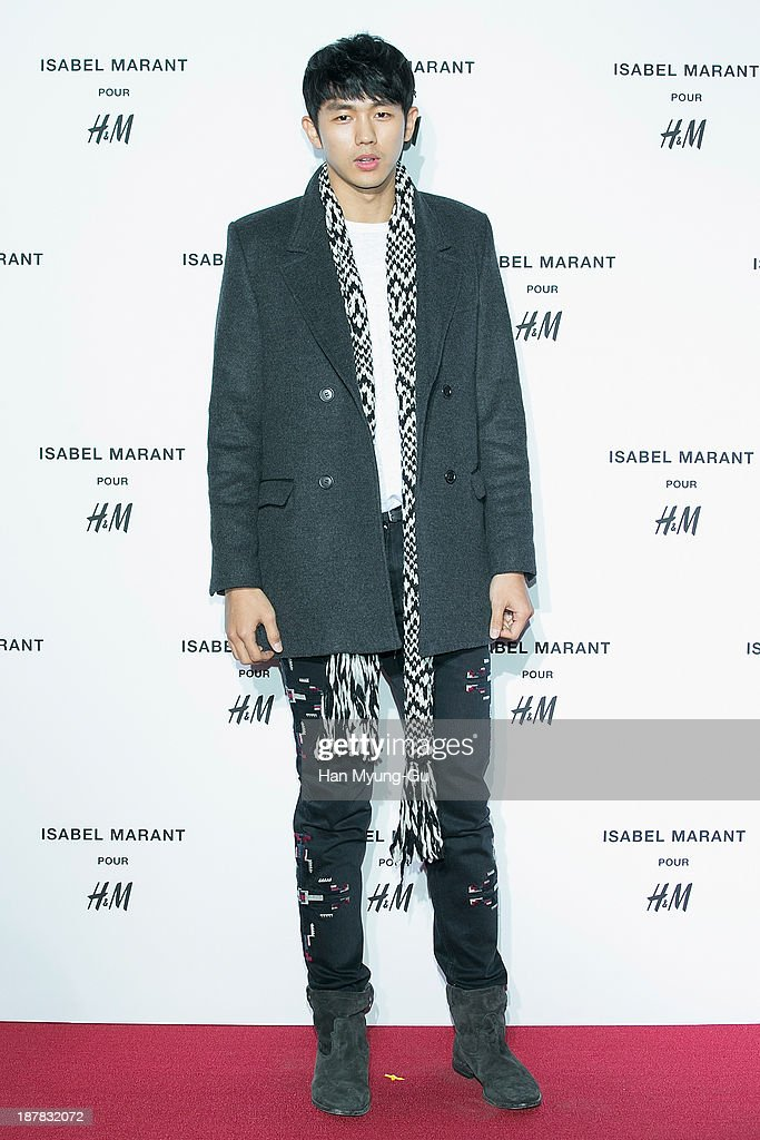 Seulong of South Korean boy band 2AM attends Isabel Marant Pour H&M pre-shopping and party at Noon Square H&M Store on November 12, 2013 in Seoul, South Korea.