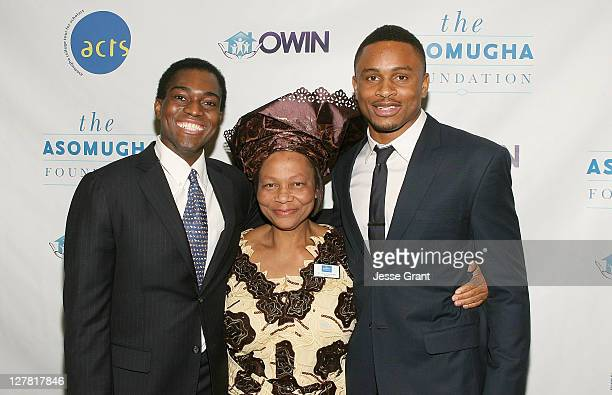 Seun Adebiyi Asomugha Fundation President Dr Lilian Asomugha and professional football Player Nnamdi Asomugha attend the Fifth Annual Asomugha...