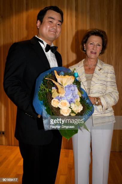 Seung Gi Jung and Queen Sonja of Norway attend the final of the Queen Sonja International Music Competition on August 28, 2009 in Oslo, Norway.