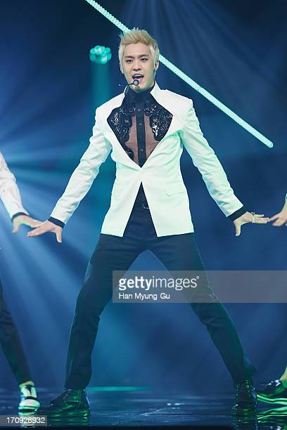 Seungho of South Korean boy band MBLAQ performs onstage during the Mnet 'M CountDown' at CJ EM Center on June 20 2013 in Seoul South Korea
