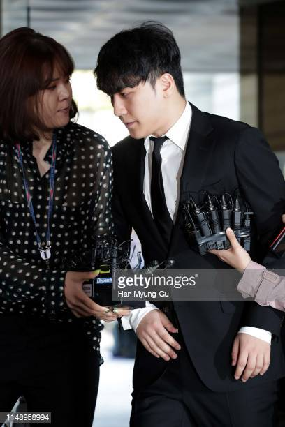 Seungri former member of BIGBANG appears at the Seoul Central District Court on May 14 2019 in Seoul South Korea Seungri appeared at a hearing to...