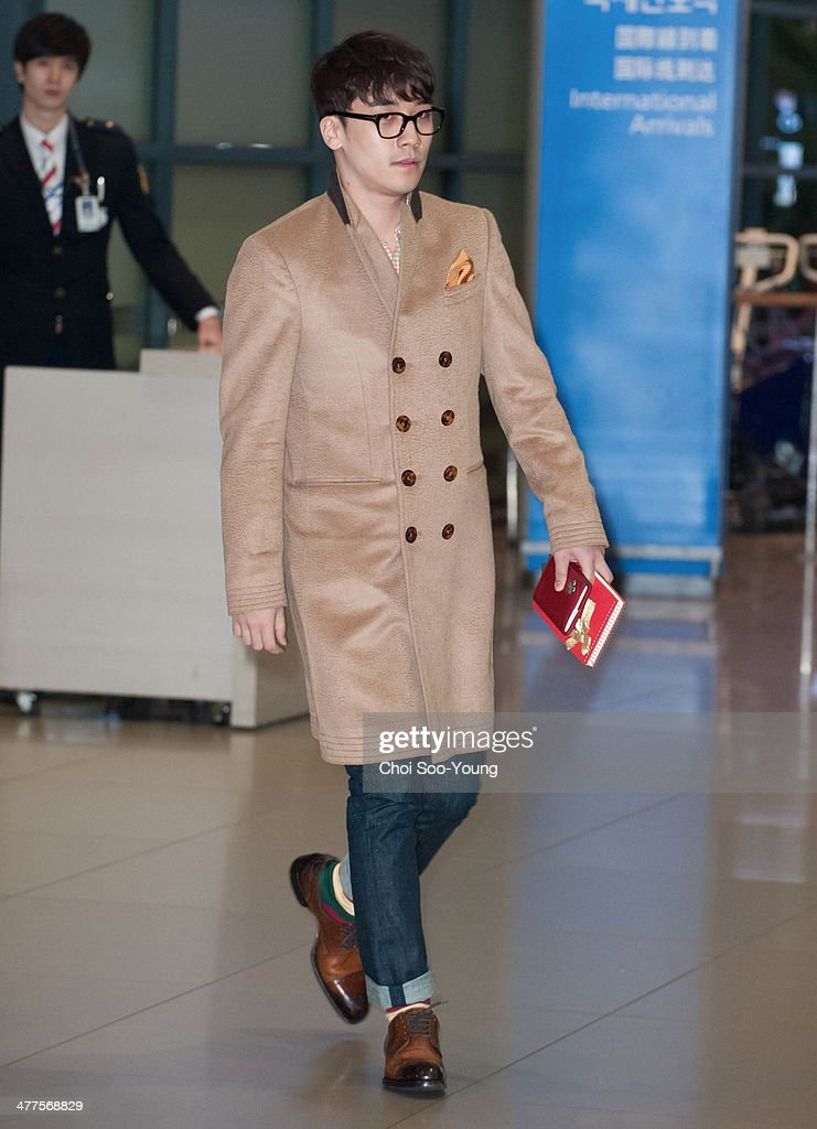 Seung-Ri of BigBang is seen at Incheon International Airport on February 27, 2014 in Incheon, South Korea.