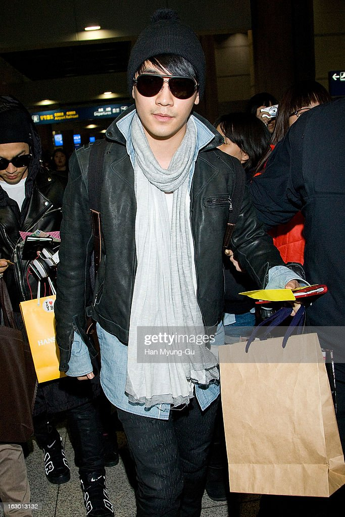 Seungri of South Korean boy band Bigbang is seen upon arrival from China at Incheon International Airport on March 3, 2013 in Incheon, South Korea.