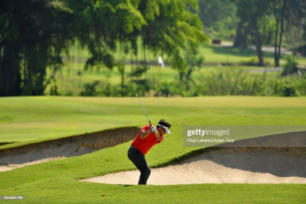 Seungtaek Lee of Korea during round five of the 2018 Asian Tour Qualifying School Final Stage at Rayong Green Valley Country Club on January 14, 2018 in Rayong, Thailand.