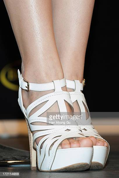 Seungyeon of South Korean girl group Kara attends the 'Epic' Showcase at CGV on July 2 2013 in Seoul South Korea The film will open on August 07 in...