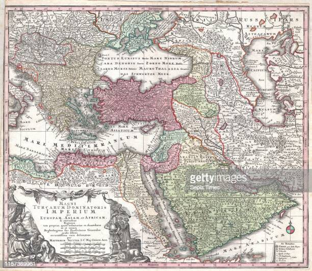 Seutter Map of Turkey, Ottoman Empire, Persia and Arabia