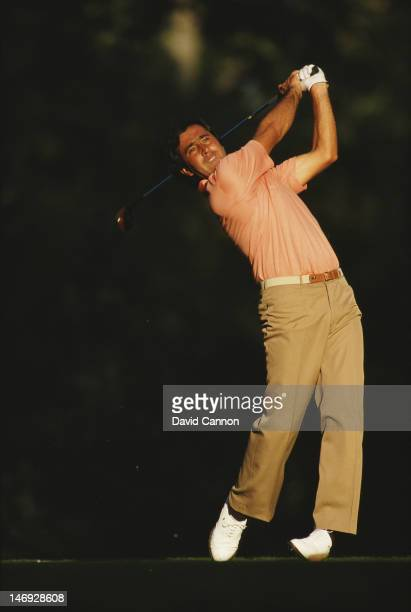 Seve Ballesteros of Spain and Europe drives off at the 15th tee during the 27th Ryder Cup Matches on 26th September 1987at the Muirfield Village in...