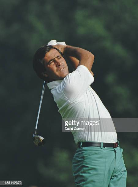 Seve Ballesteros of Spain during the Suntory World Match Play Championship on 27 September 1985 at the Wentworth Golf Club Virginia Water United...