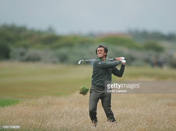 Seve Ballesteros of Spain hits out of the rough during the 120th Open Championship on 21 July 1991 at the Royal Birkdale Golf Club in Southport...