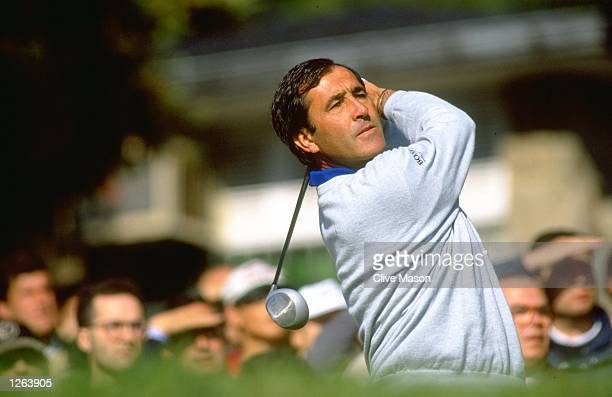Seve Ballesteros of Spain in action during the Peugeot Open at the Club De Campo in Spain Mandatory Credit Clive Mason/Allsport