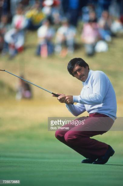 Seve Ballesteros of Spain pictured in action during the 1990 British Open Golf Championship at the Old Course at St Andrews in Scotland in July 1990