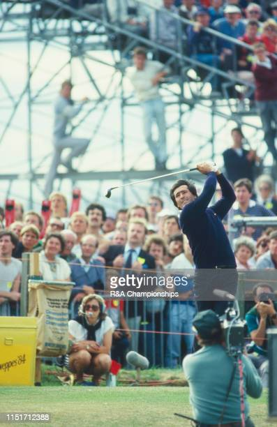 Seve Ballesteros of Spain tees off during The 113th Open Championship held on the Old Course at St Andrews, from July 19-22,1984 in St Andrews,...