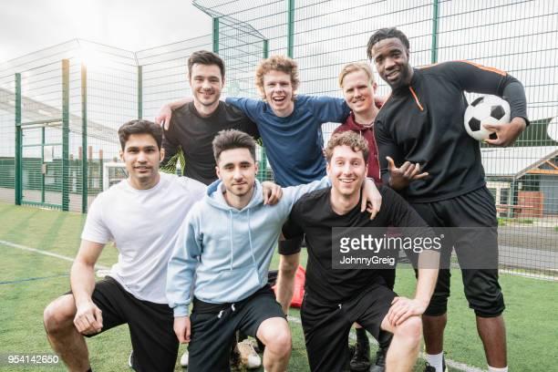 Seven aside football team portrait