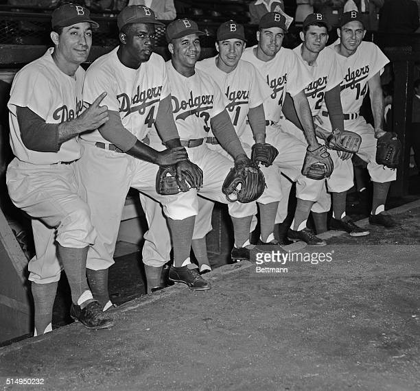 Seven Brooklyn Dodgers who will play for the National League against the American League in the 1952 AllStar game at Philadelphia July 8th are Carl...