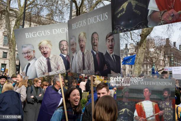 Seven days before the original for the UK to leave the EU hundreds of thousands of Brexit protestors marched through central London calling for...