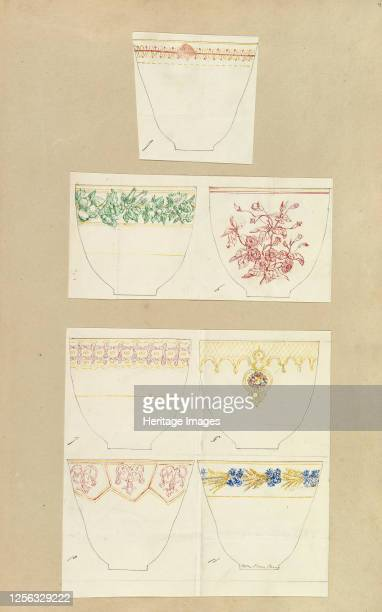 Seven Designs for Decorated Cups 184555 Artist Alfred Crowquill