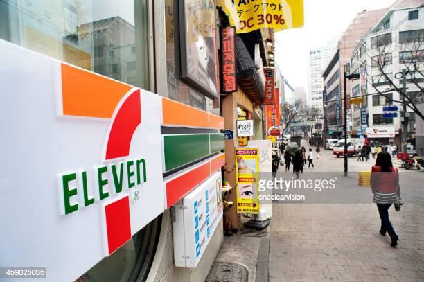 セブンイレブンの店舗,Seoul ,South Korea
