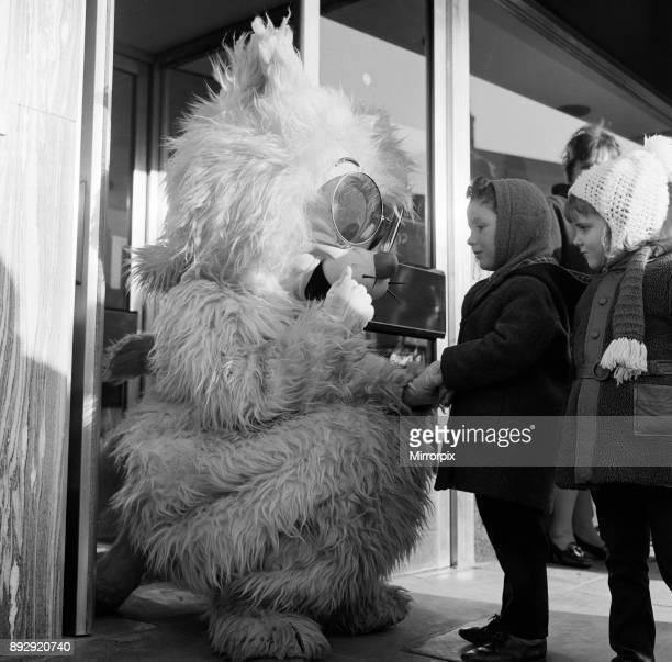Seven foot cat on Stockton Hight Street, 1971.