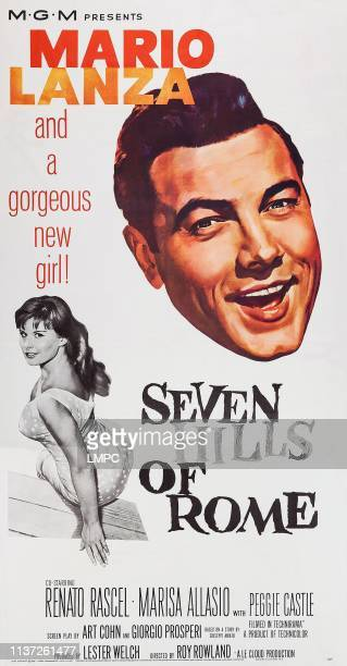 Seven Hills Of Rome poster US poster art from left Marisa Allasio Mario Lanza 1958