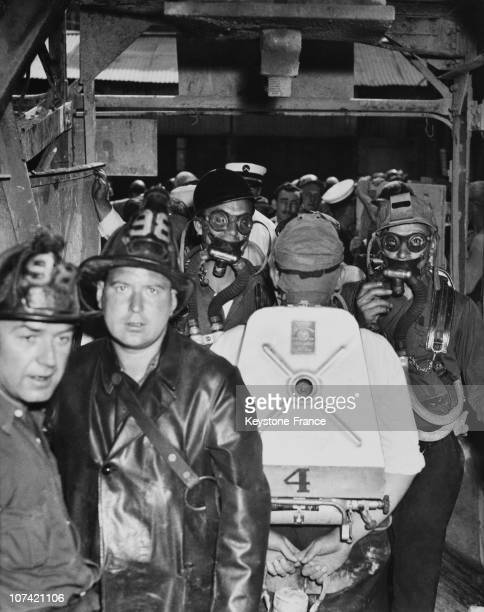 Seven Hurt In Subway Fire At Chicago In Usa On September 21St 1939