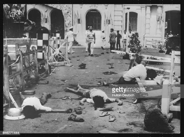 Seven Killed 47 Wounded By Communist Bomb In Saigon Vietcong Versus South Vietna