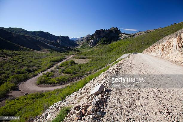 seven lakes road (ruta de los siete lagos) - siete stock pictures, royalty-free photos & images