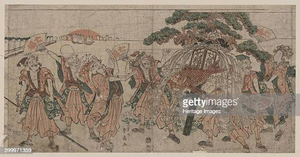 Seven Lucky Gods 1810s Private Collection Artist Shunsen Katsukawa