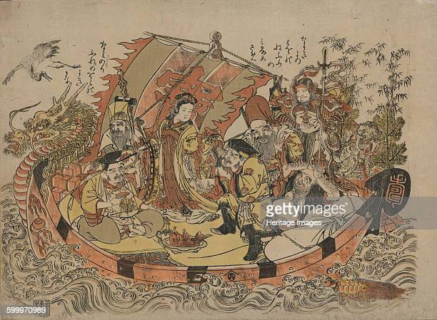 Seven Lucky Gods Between 1775 and 1780 Private Collection Artist Kitao Shigemasa