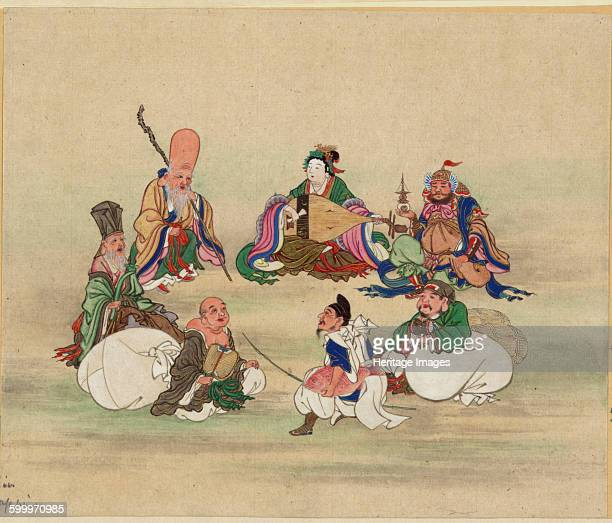 Seven Lucky Gods ca 1878 Private Collection Artist Anonymous