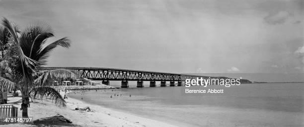 Seven Mile Bridge, Key West, Florida, United States, 1954.