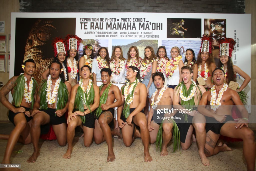 Miss France in Visit In Tahiti