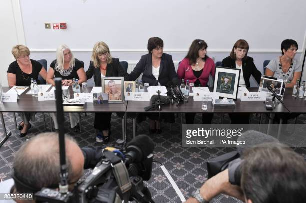 Seven mothers whose fallen sons who were all killed in Afghanistan hold a press conference in Redwood Lodge Failand Bristol as they come together to...