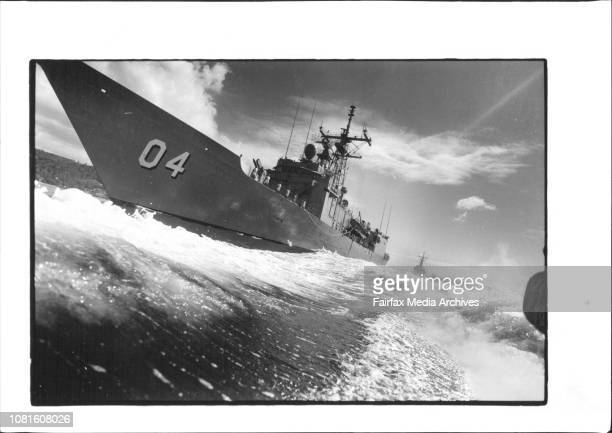 Seven Navy Ships enter the Heads of Farewell a Navy ChiefVice Admiral Ian MacDougall March 3 1994