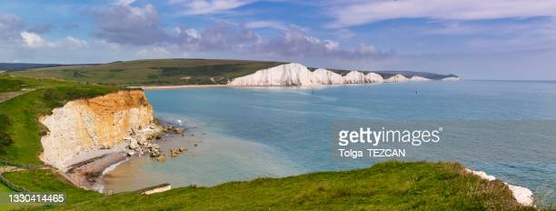 seven sisters cliff - coastline stock pictures, royalty-free photos & images