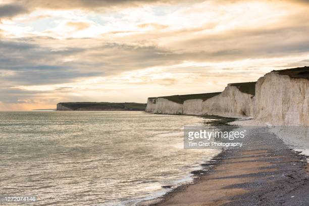 seven sisters cliffs at sunset - scenics stock pictures, royalty-free photos & images