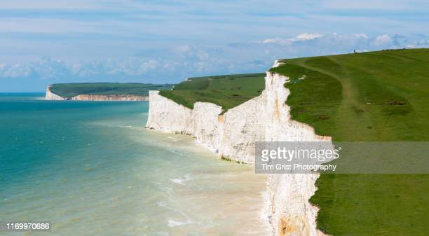 seven sisters cliffs, east sussex, uk - eastbourne stock pictures, royalty-free photos & images