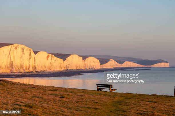 seven sisters coastline - eastbourne stock pictures, royalty-free photos & images