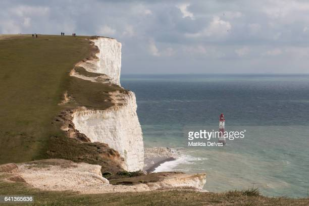 seven sisters coastline - beachy head stock photos and pictures