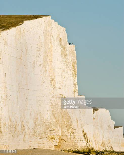 seven sisters, eastbourne, east sussex - seven sisters cliffs stock photos and pictures