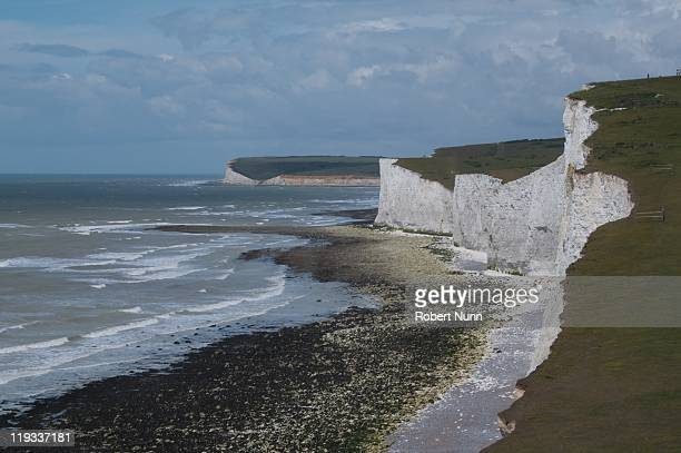 seven sisters - seven sisters cliffs stock photos and pictures