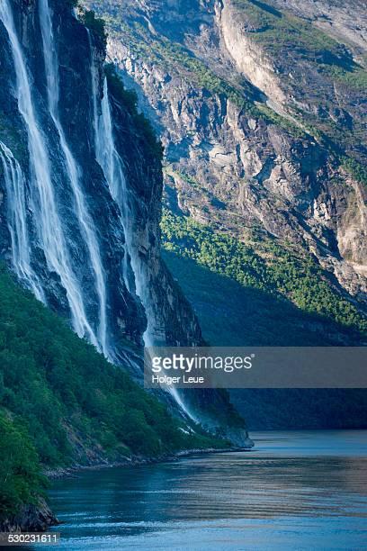 Seven Sisters waterfall in Geirangerfjord