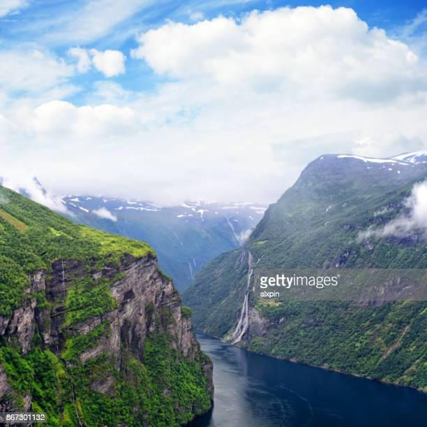 Zeven zusters waterval, Noorwegen
