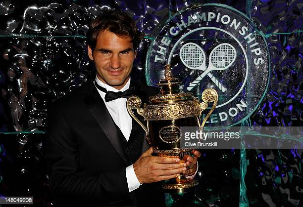 Seven time Wimbledon Men's Champion Roger Federer attends the Wimbledon Championships 2012 Winners Ball at the InterContinental Park Lane Hotel on...