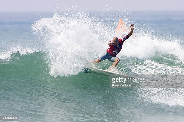 Seven times ASP world champion Kelly Slater surfs during the Boost Mobile Pro on September 12 2006 at Lower Trestles in San Clemente California...