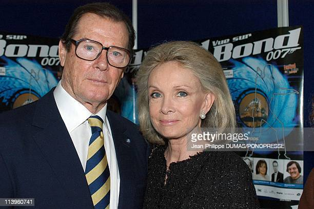 Seven times James Bond Roger Moore in Quebec, Canada on February 24, 2006-On the picture: Sir Roger Moore and Kristina Tholstrup Quebec City is...