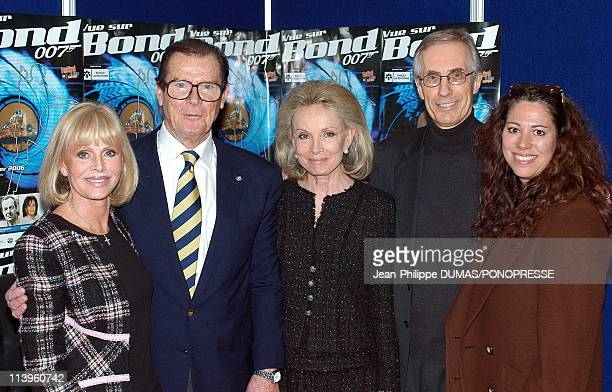Seven times James Bond Roger Moore in Quebec Canada on February 24 2006On the picture Britt Ekland Sir Roger Moore Kristina Tholstrup Nigel Fisher...