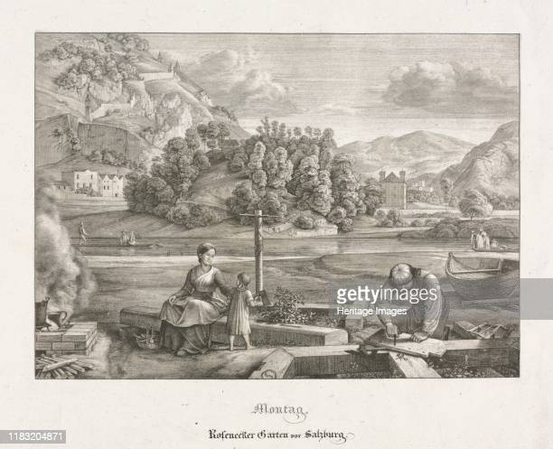 Seven Views in Salzburg and Berchtesgaden Monday Rosenecker Garden Salzburg 1823 Various threads of German Romantic artspiritualized landscape...