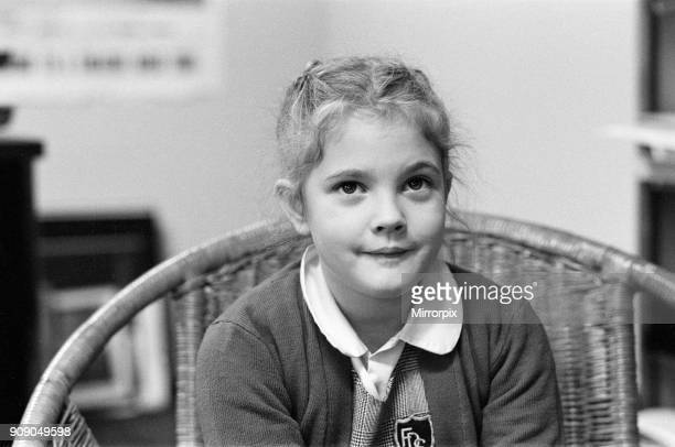 Seven year old child actress Drew Barrymore the young star of the film ET 26th November 1982
