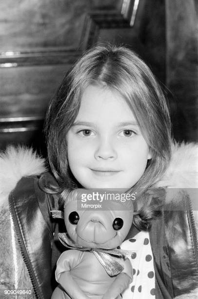 Seven year old child actress Drew Barrymore the young star of the film ET in London for the British premier of the film on the 9th December 5th...