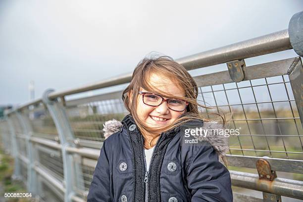 Seven year old girl outdoor portrait